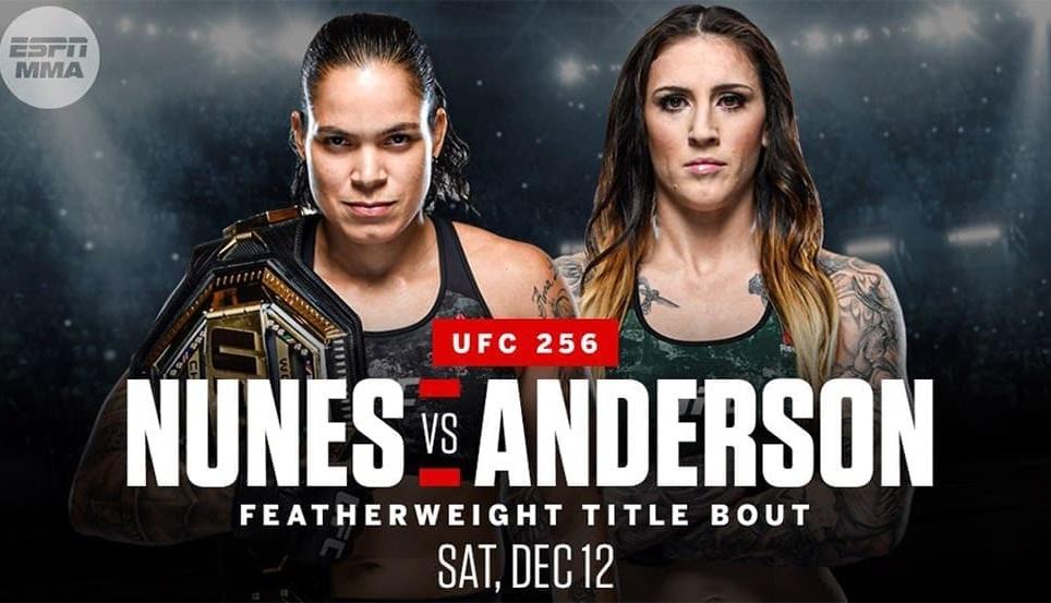 Аманда Нуньес против Меган Андерсон на UFC 256