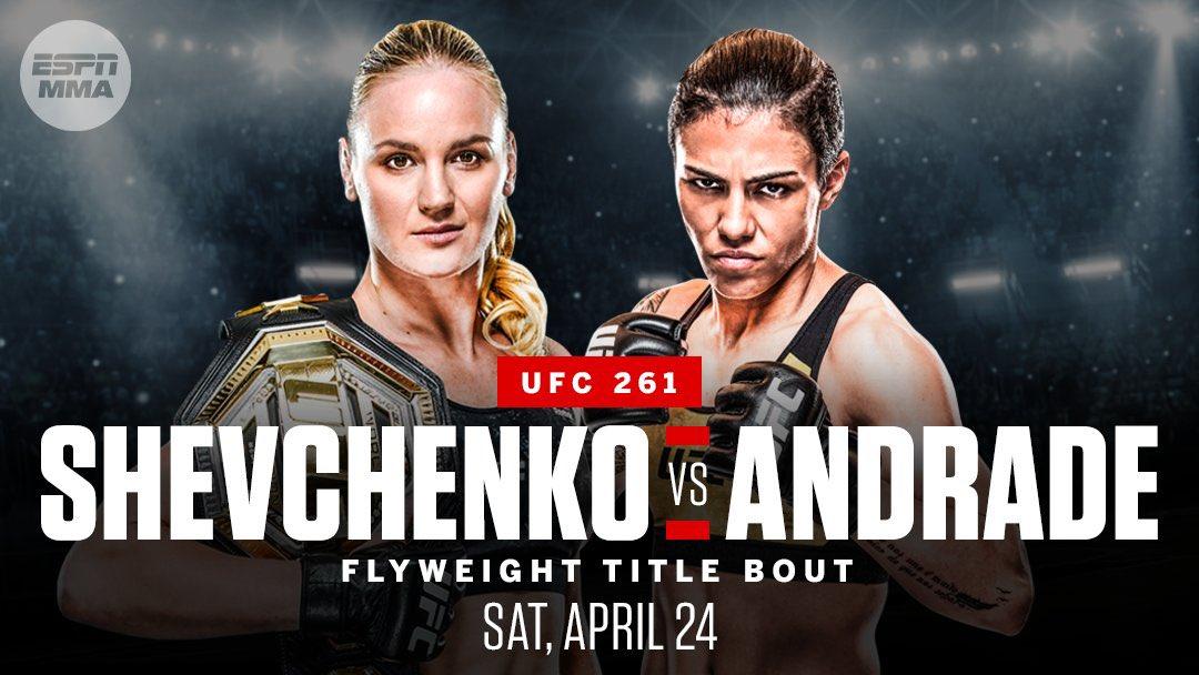 Валентина Шевченко vs Джессика Андраде на UFC 261