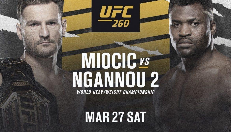 Сформирован главный кард для UFC 260: Миочич vs Нганну 2