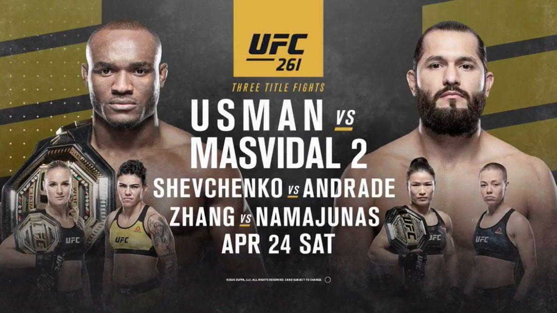 Реванш Усмана и Масвидаля пройдет на UFC 261 при полных трибунах!