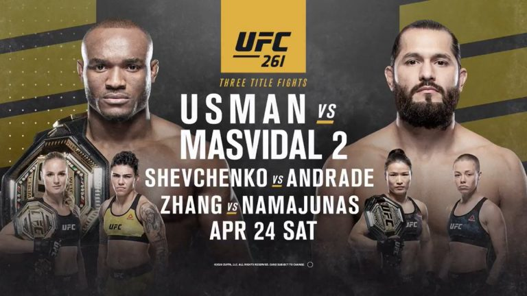 Реванш Усмана и Масвидаля UFC 261